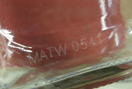 Glass marking and coding
