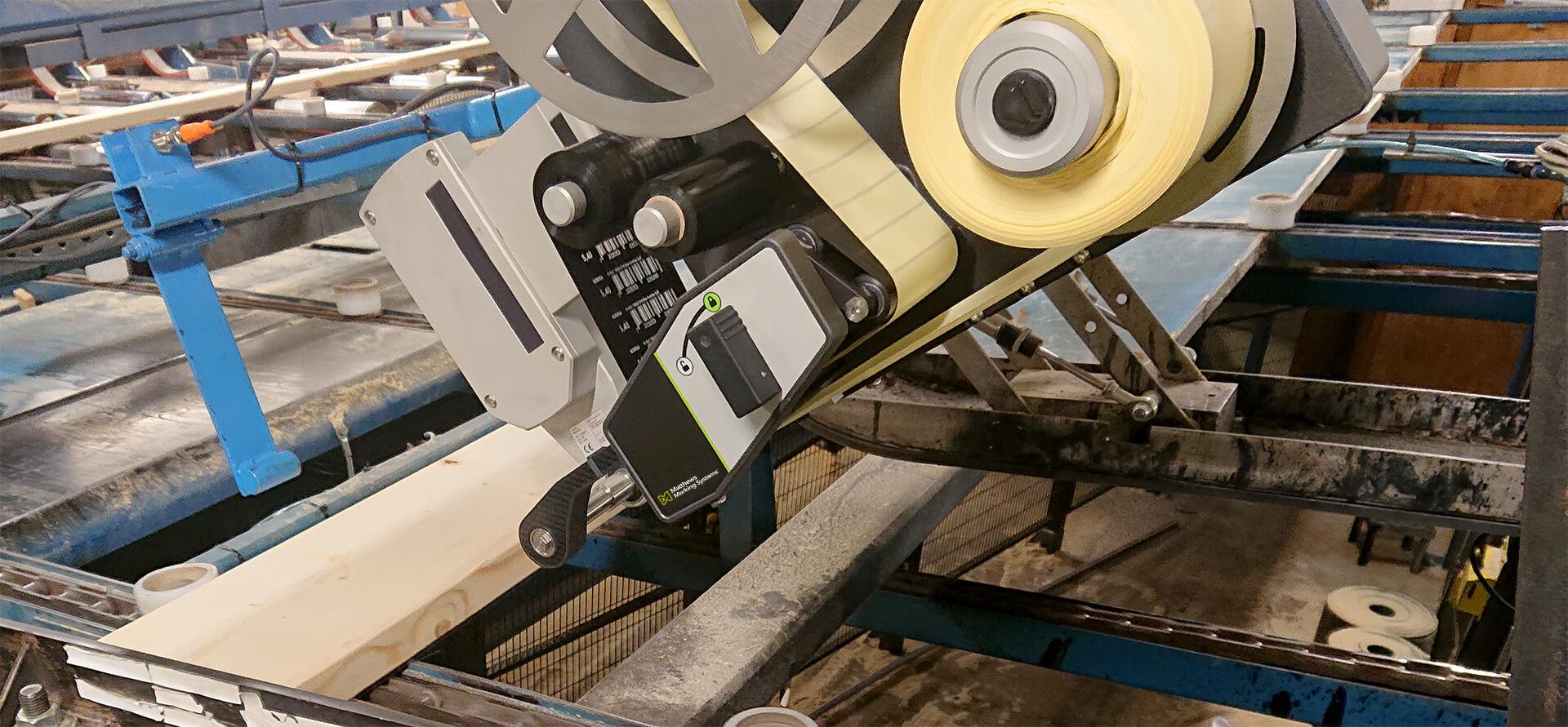 Industriellt märkningssystem för trätillämpningar